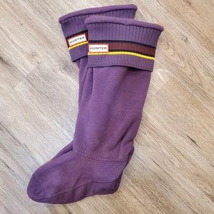 Hunter cuff fleece socks
